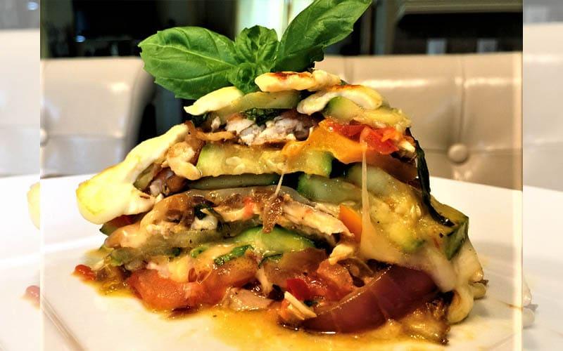 Pasticho o lasagna de calabacín
