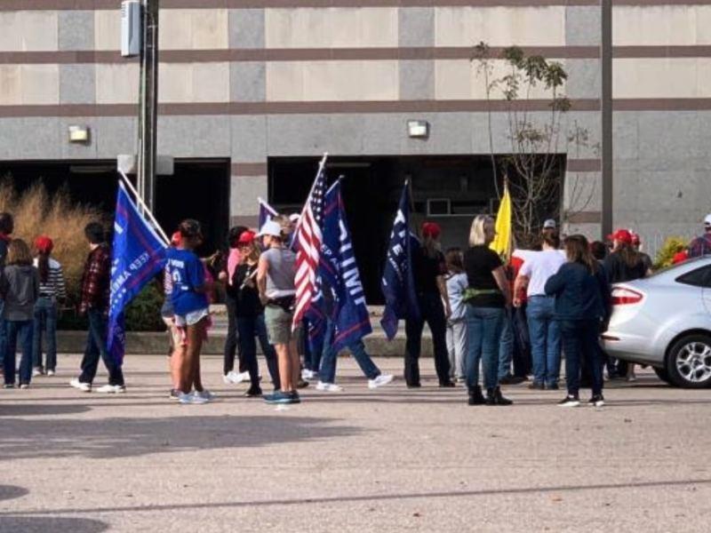 Raleigh manifestantes Trumop