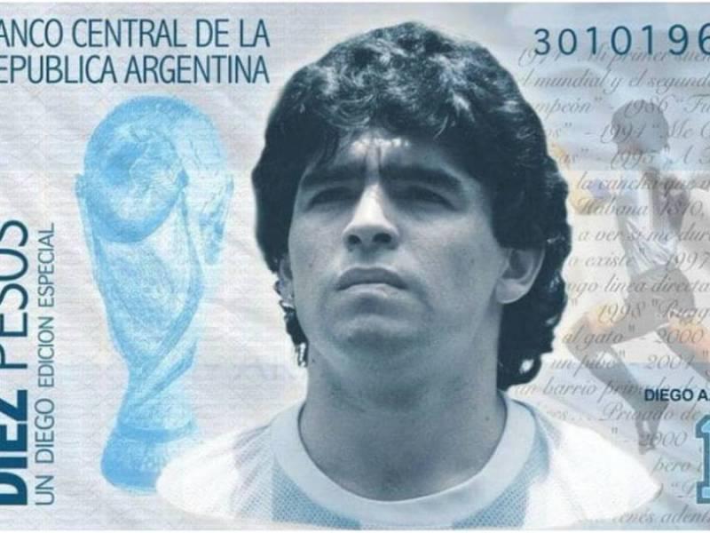 Billetes Imagen de Maradona