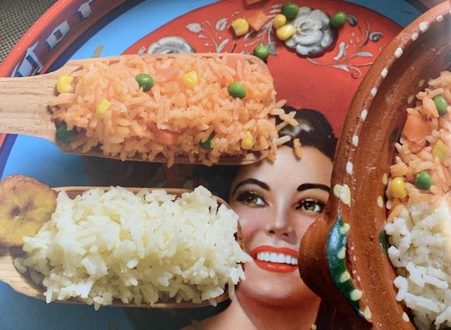 arroz blanco y rojo
