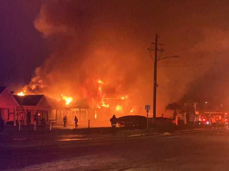 Incendio en Shallotte, Carolina del Norte