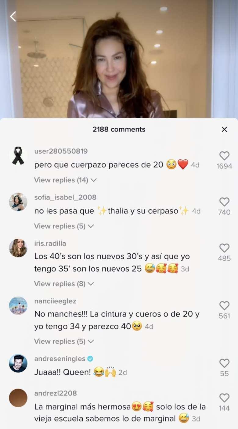 Critican a Thalía por hacer el Silhuoette Challenge