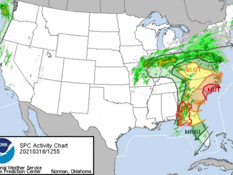 Vientos y tornados NC