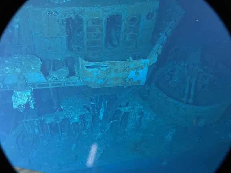 El barco fue hundido durante una de las batallas en el Pacífico en la Segunda Guerra Mundial.