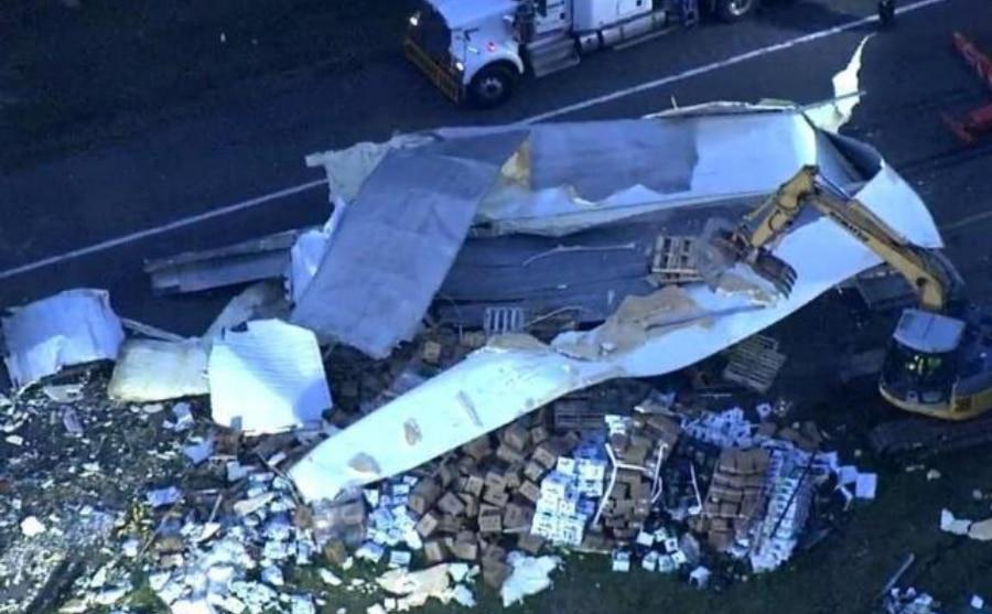 Accidente I-95 camiones carga