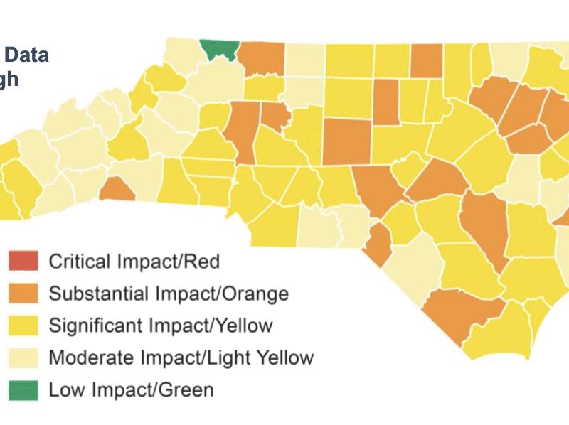 """COVID-19: Reportan cero condados en la zona """"roja"""" en Carolina del Norte"""