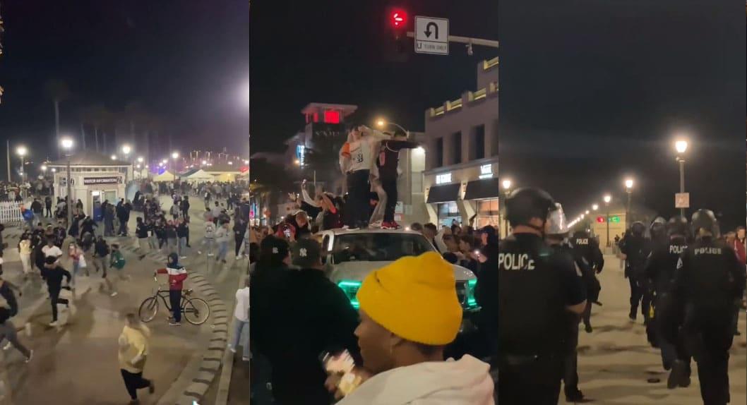 150 arrestados por fiesta masiva en Huntington Beach, California