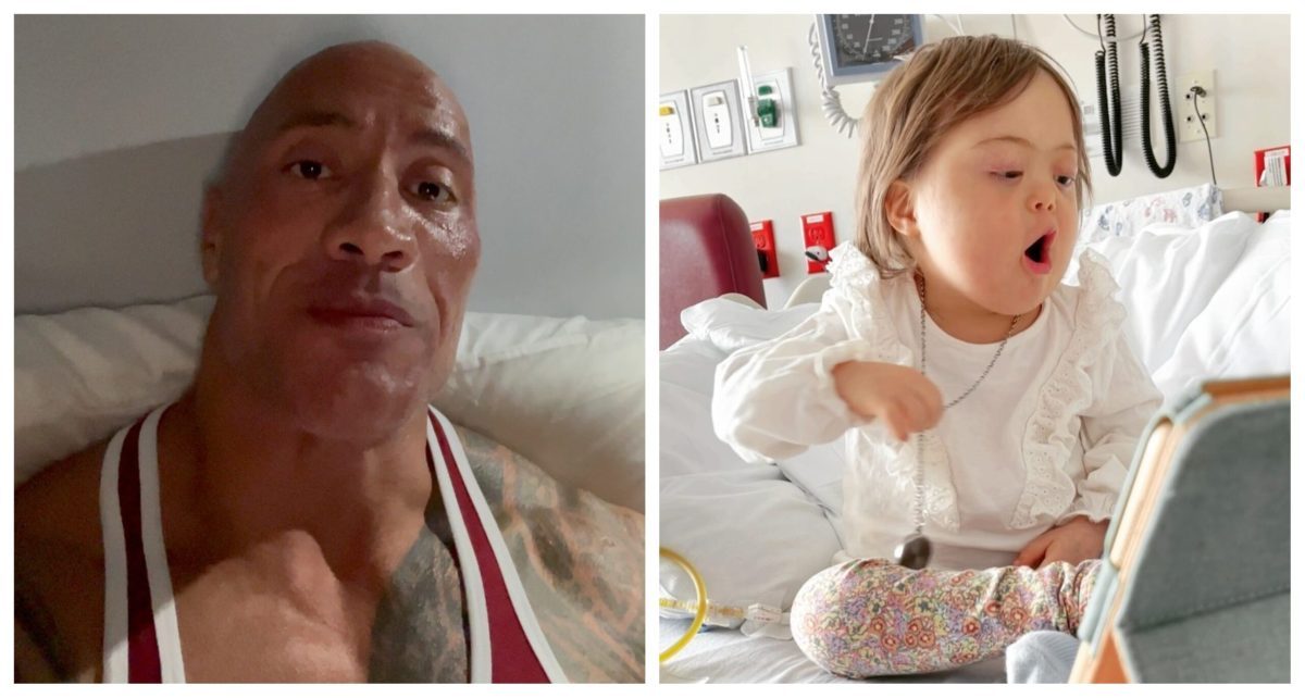 dwayne johnson niña hospitalizada