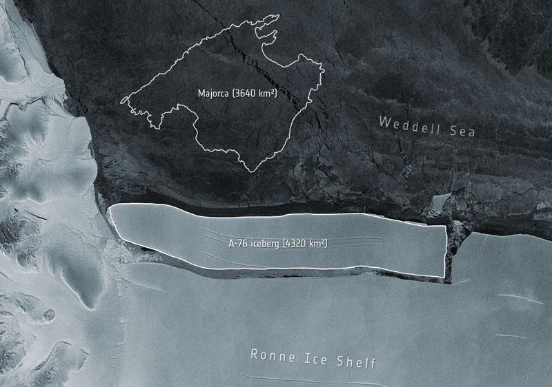 Iceberg más grande del mundo se desprende en Antártida