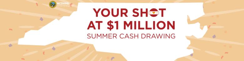 """Este verano empezará el programa """"Your Shot at a Million"""" (Tu Oportunidad de un Millón), un sorteo donde los residentes de Carolina del Norte pueden ganar $1 millón por vacunarse."""
