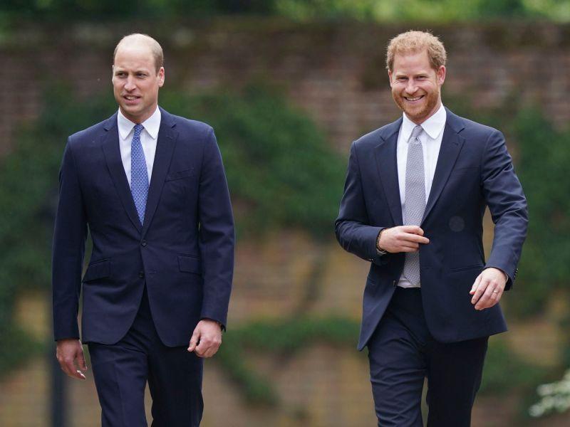 William y Harry se reencuentran para develar estatua de la Princesa Diana