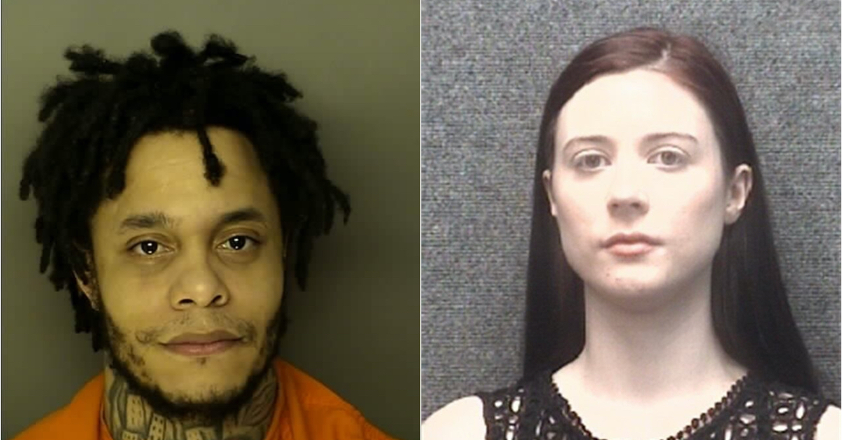 Johnny Thomas, de 34 años, de Durham y Becca Mills, de 25, de Whispering Pines, Carolina del Nort