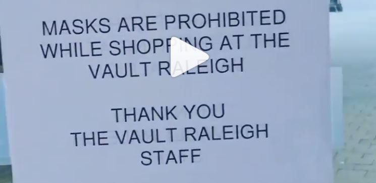 raleigh negocio clientes mascarilla