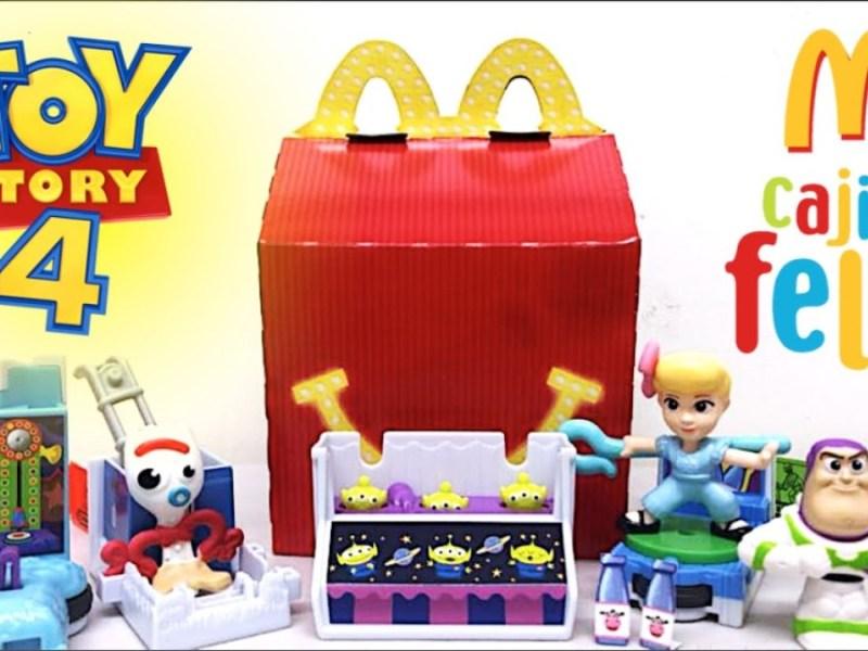 Cajita Feliz McDonald's figuras plástico