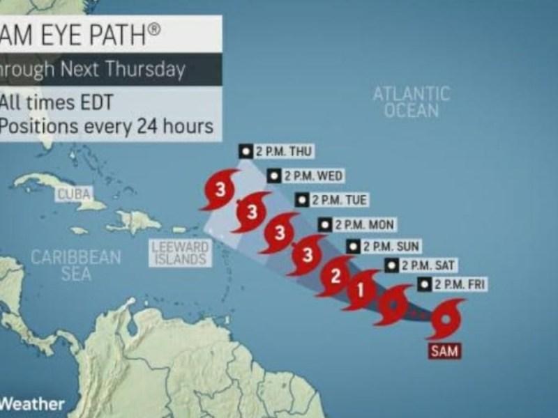 sam tormenta tropical