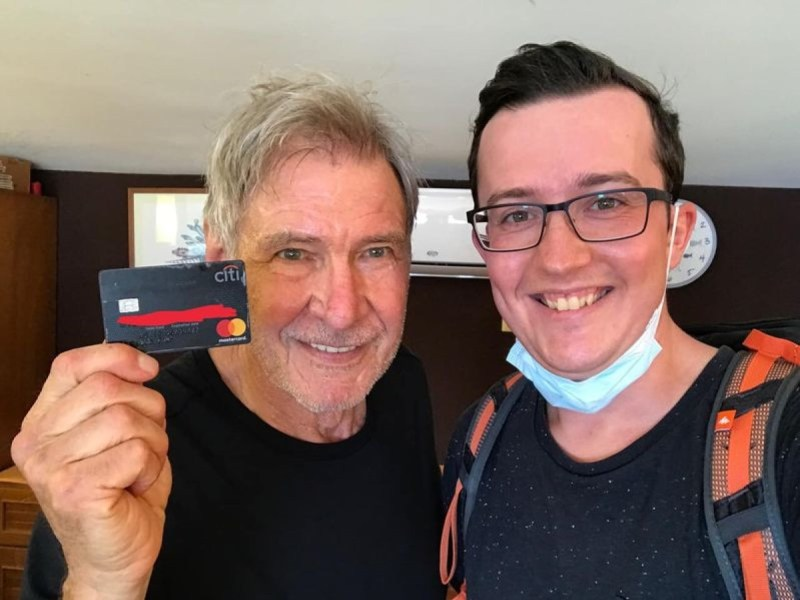 Turista tarjeta de crédito Harrison Ford