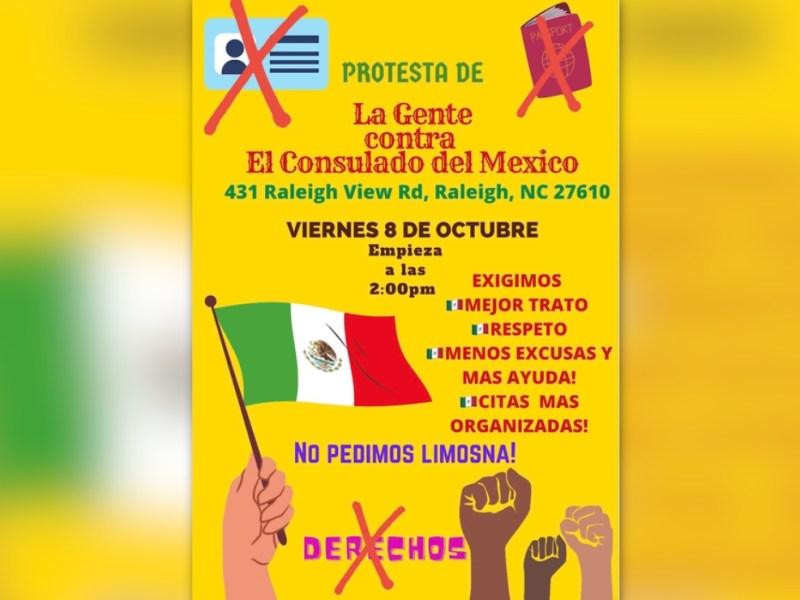 consulado protestas