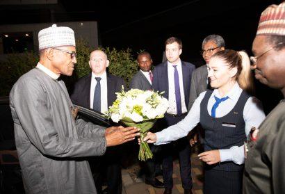 Buhari arrives Sochi ahead of Russia-Africa summit