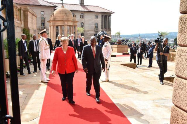 Ramaphosa and Merkel