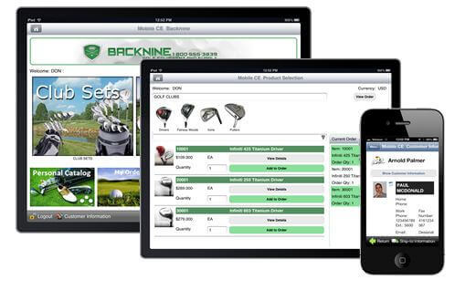 Mobile apps built with full ERP system integration provides remote sales reps access