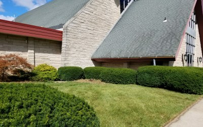 Members Spruce Up Church Front