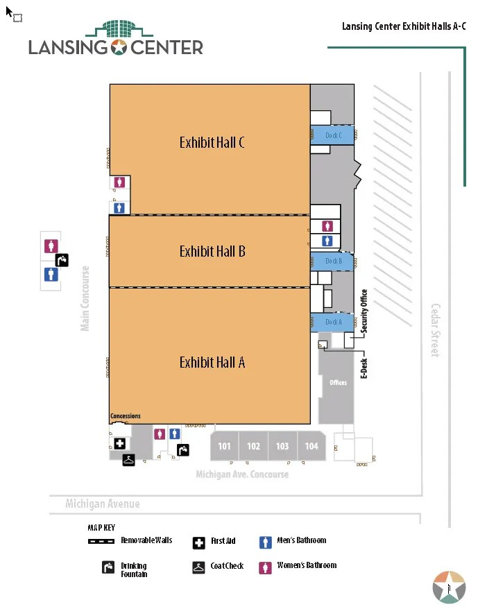 Lansing Center Floor Layout