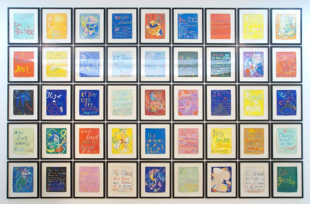 André Lanskoy, Genèse, 1966, Gouache sur papier, 45 pièces, 64,5 x 49,5 cm par pièce