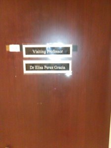 Elisa's new office (in Manchester)