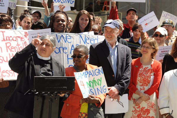 Campaigners rally for the Campaign 4 NY/NY Housing