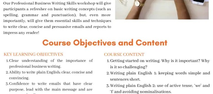 thumbnail of professional business writing skills