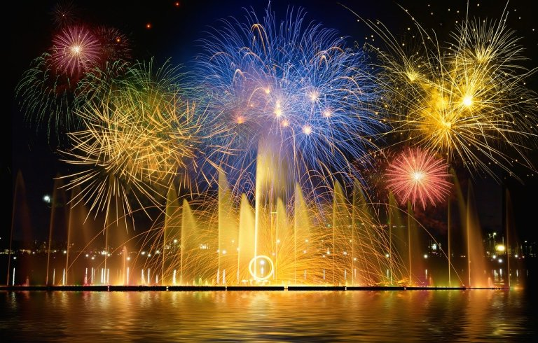 new year's eve, fireworks, new year's day