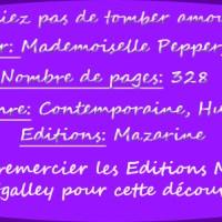 N'oubliez pas de tomber amoureuse à Paris de Mademoiselle Peppergreen