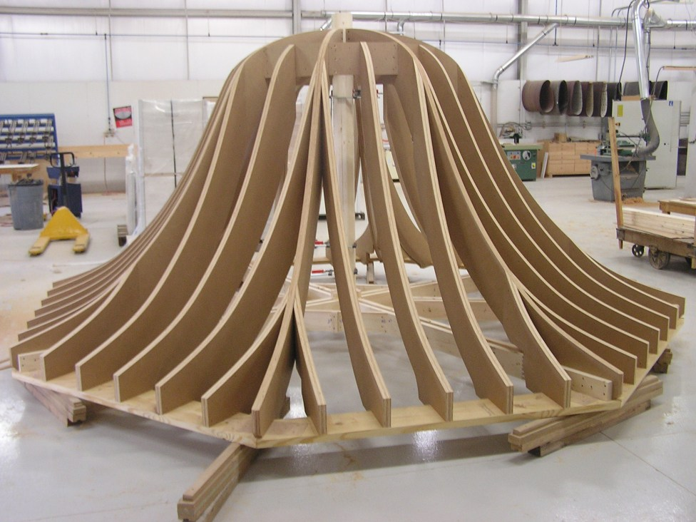 Gazebo Roof Structure in Shop