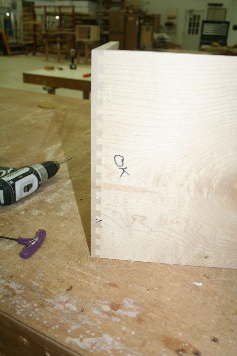 Dovetail made with new template