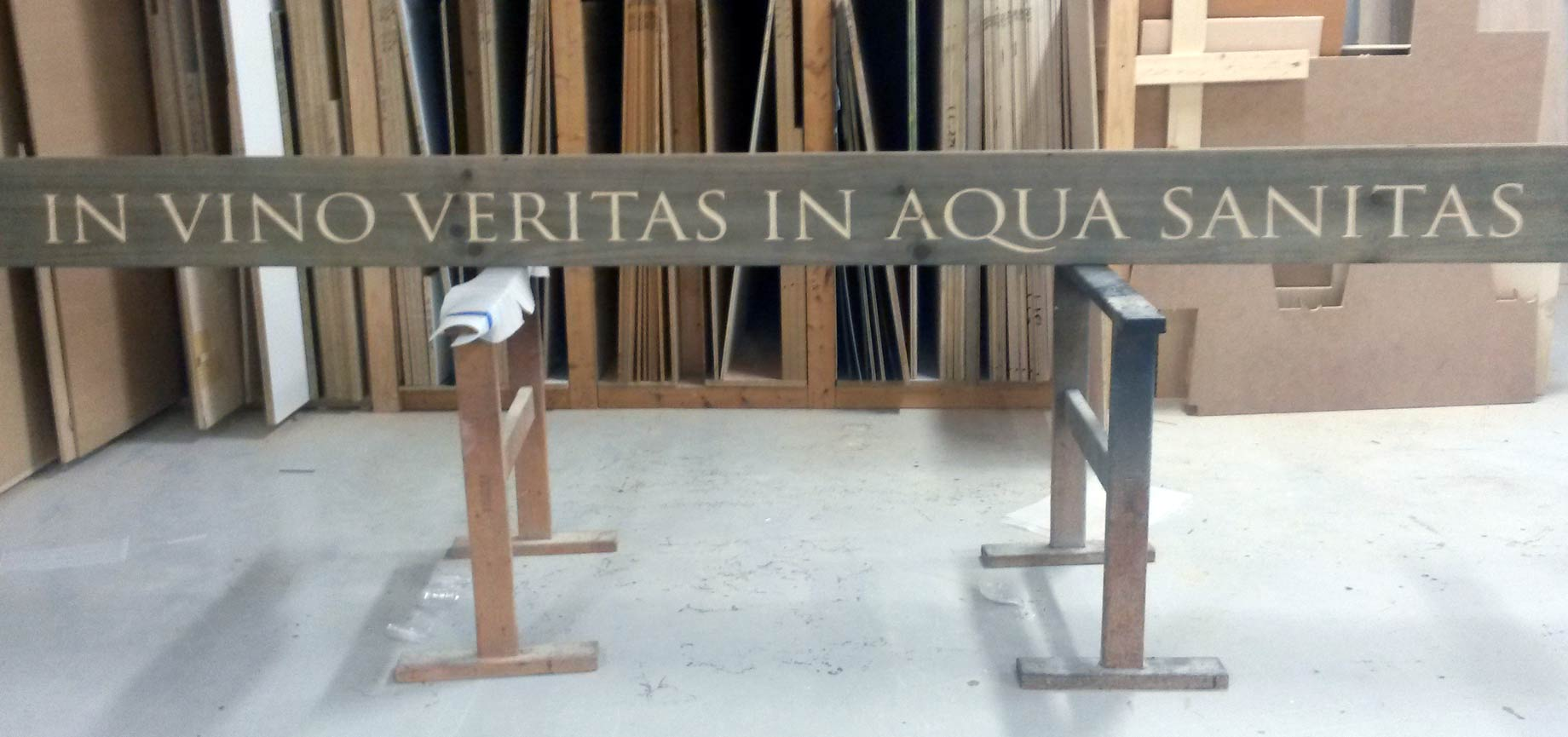 CNC engraved sign by Lantz custom Woodworking