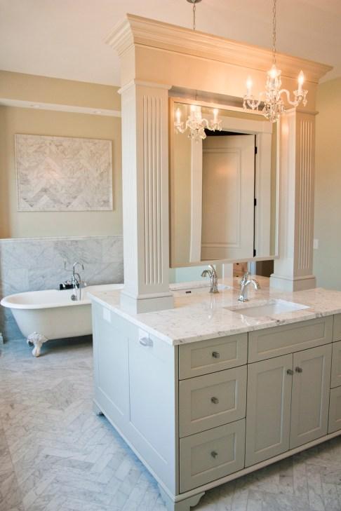 Slonaker Residence Bath Vanity by Lantz Custom Woodworking