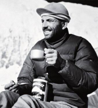 Herzog at Annapurna base camp
