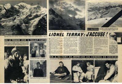 Artículo del Paris Match sobre el caso 'Los náufragos del Mont Blanc'