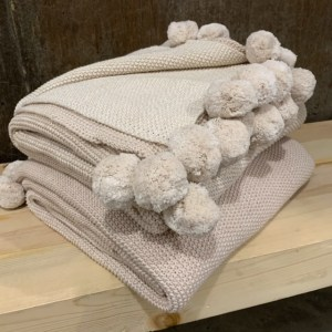 Cotton Knit Ombre Throw