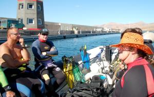 Scuba diving Lanzarote - boat