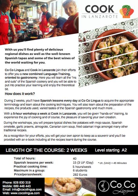 Spanish language cooking lessons lanzarote information cooking spanish lessons forumfinder Gallery