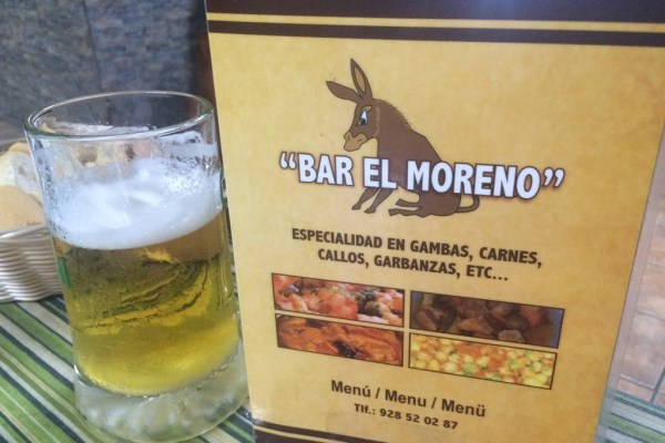 Bar El Moreno Menu