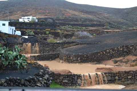 Rain in Lanzarote