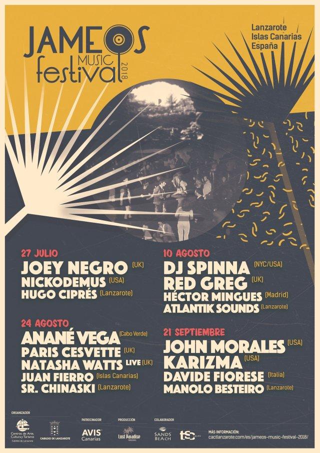 Jameos Festival Poster 2018