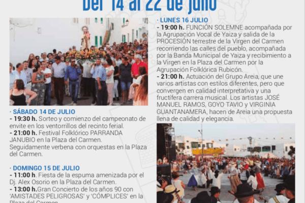 Fiestas del Carmen de Playa Blanca 2018