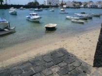 A small beach area
