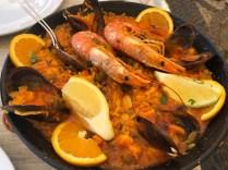 The paella was stunning