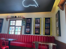 Diner and film themed interior