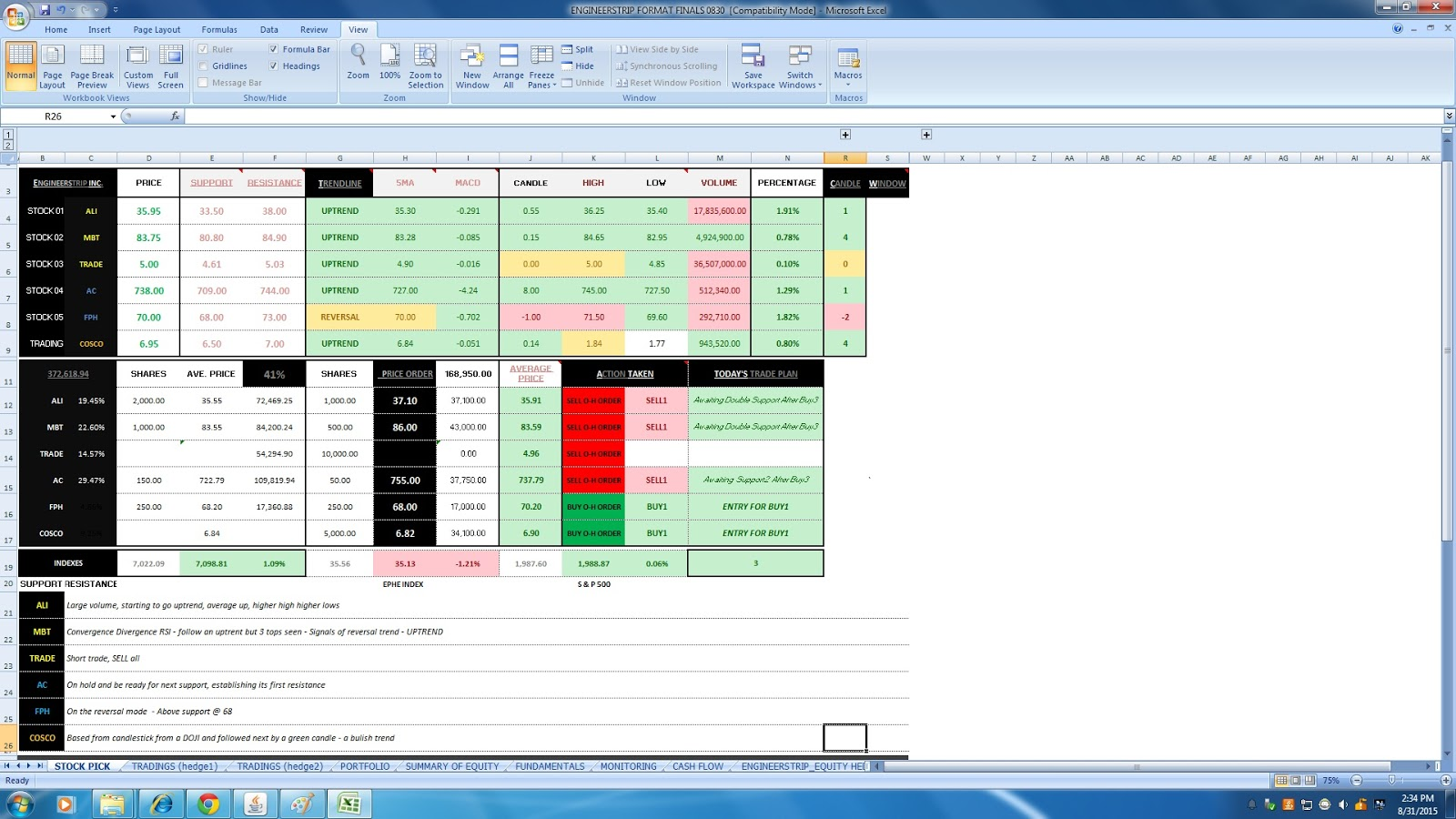 Indian Stock Market Excel Sheet