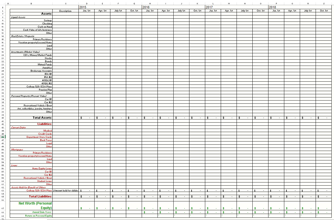 First Time Home Buyer Spreadsheet